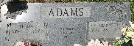 ADAMS, THOMAS - Bowie County, Texas | THOMAS ADAMS - Texas Gravestone Photos