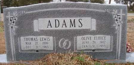 ADAMS, OLIVE ELOICE - Bowie County, Texas | OLIVE ELOICE ADAMS - Texas Gravestone Photos