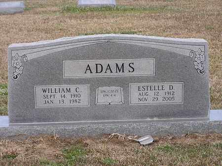 ADAMS, WILLIAM C - Bowie County, Texas | WILLIAM C ADAMS - Texas Gravestone Photos