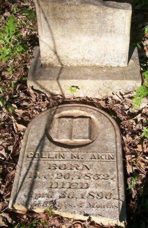 AKIN, COLLIN M. - Bowie County, Texas | COLLIN M. AKIN - Texas Gravestone Photos