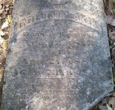 AKIN, SR, COLLIN M. (CLOSEUP) - Bowie County, Texas | COLLIN M. (CLOSEUP) AKIN, SR - Texas Gravestone Photos