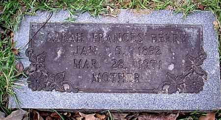 BERRY, SARAH FRANCES - Bowie County, Texas   SARAH FRANCES BERRY - Texas Gravestone Photos