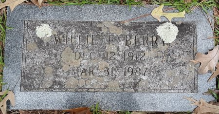 BERRY, WILLIE F  - Bowie County, Texas | WILLIE F  BERRY - Texas Gravestone Photos