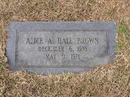 BROWN, ALICE A - Bowie County, Texas | ALICE A BROWN - Texas Gravestone Photos