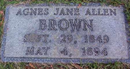 BROWN, AGNES JANE - Bowie County, Texas | AGNES JANE BROWN - Texas Gravestone Photos