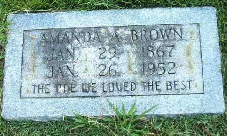 BROWN, AMANDA A - Bowie County, Texas | AMANDA A BROWN - Texas Gravestone Photos