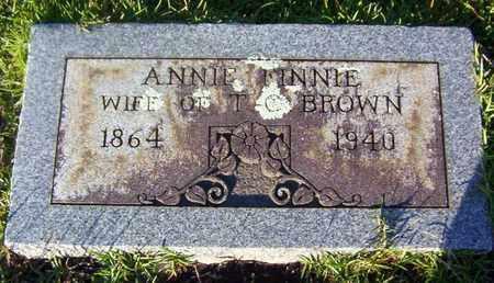 BROWN, ANNIE FINNIE - Bowie County, Texas | ANNIE FINNIE BROWN - Texas Gravestone Photos