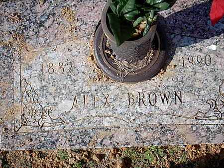 BROWN, ALEX - Bowie County, Texas | ALEX BROWN - Texas Gravestone Photos