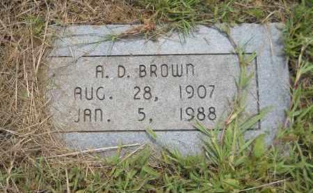 BROWN, A D - Bowie County, Texas   A D BROWN - Texas Gravestone Photos