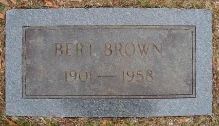 BROWN, BERT - Bowie County, Texas | BERT BROWN - Texas Gravestone Photos