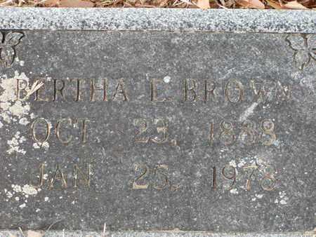 BROWN, BERTHA E - Bowie County, Texas | BERTHA E BROWN - Texas Gravestone Photos