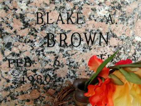 BROWN, BLAKE A - Bowie County, Texas   BLAKE A BROWN - Texas Gravestone Photos