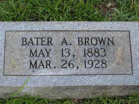 BROWN, BATER A - Bowie County, Texas   BATER A BROWN - Texas Gravestone Photos