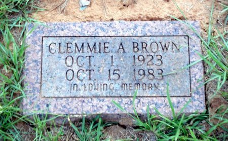 BROWN, CLEMMIE A - Bowie County, Texas | CLEMMIE A BROWN - Texas Gravestone Photos