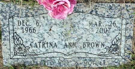 BROWN, CATRINA ANN - Bowie County, Texas | CATRINA ANN BROWN - Texas Gravestone Photos