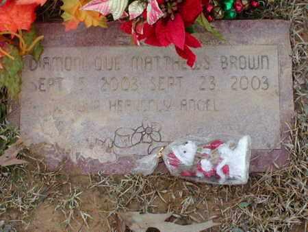 BROWN, D'AMONIQUE MATTHEWS - Bowie County, Texas   D'AMONIQUE MATTHEWS BROWN - Texas Gravestone Photos