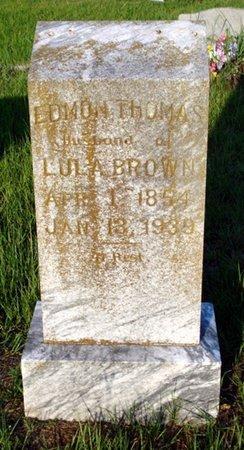 BROWN, EDMON THOMAS - Bowie County, Texas | EDMON THOMAS BROWN - Texas Gravestone Photos
