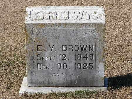 BROWN, E Y - Bowie County, Texas | E Y BROWN - Texas Gravestone Photos