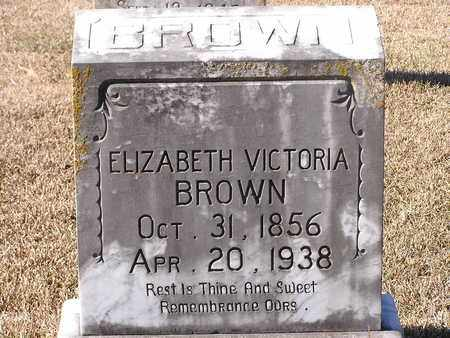 BROWN, ELIZABETH VICTORIA - Bowie County, Texas | ELIZABETH VICTORIA BROWN - Texas Gravestone Photos