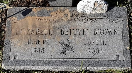 BROWN, ELIZABETH - Bowie County, Texas | ELIZABETH BROWN - Texas Gravestone Photos
