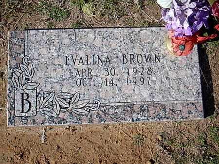 BROWN, EVALINA - Bowie County, Texas | EVALINA BROWN - Texas Gravestone Photos