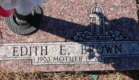 BROWN, EDITH E - Bowie County, Texas | EDITH E BROWN - Texas Gravestone Photos