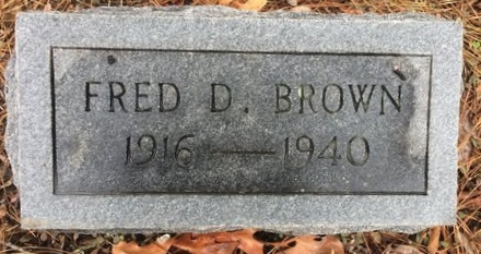BROWN, FRED D. - Bowie County, Texas | FRED D. BROWN - Texas Gravestone Photos