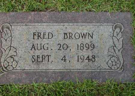 BROWN, FRED - Bowie County, Texas | FRED BROWN - Texas Gravestone Photos