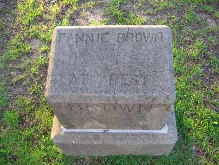 BROWN, FANNIE - Bowie County, Texas | FANNIE BROWN - Texas Gravestone Photos