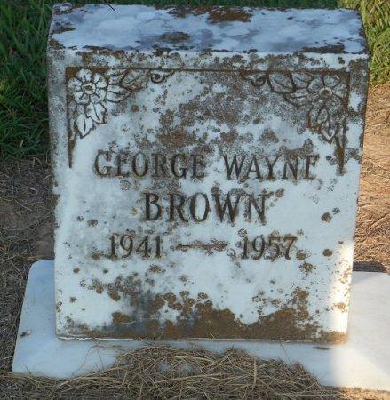 BROWN, GEORGE WAYNE - Bowie County, Texas | GEORGE WAYNE BROWN - Texas Gravestone Photos