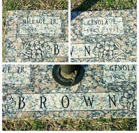 BROWN, GENOLA F - Bowie County, Texas | GENOLA F BROWN - Texas Gravestone Photos