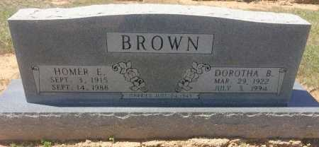 BROWN, HOMER E - Bowie County, Texas | HOMER E BROWN - Texas Gravestone Photos