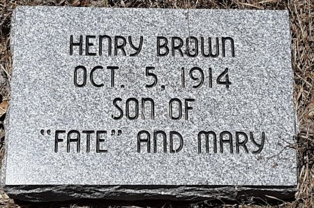 BROWN, HENRY - Bowie County, Texas | HENRY BROWN - Texas Gravestone Photos