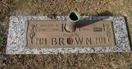 BROWN, HORACE H - Bowie County, Texas | HORACE H BROWN - Texas Gravestone Photos