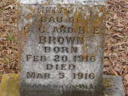 BROWN, INFANT - Bowie County, Texas | INFANT BROWN - Texas Gravestone Photos