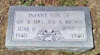 BROWN, INFANT SON - Bowie County, Texas | INFANT SON BROWN - Texas Gravestone Photos