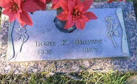 BROWN, IRENE K - Bowie County, Texas   IRENE K BROWN - Texas Gravestone Photos