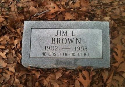 BROWN, JIM L - Bowie County, Texas | JIM L BROWN - Texas Gravestone Photos