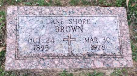 BROWN, JANE - Bowie County, Texas | JANE BROWN - Texas Gravestone Photos