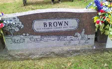 BROWN, KELLY JOE (BACKVIEW) - Bowie County, Texas   KELLY JOE (BACKVIEW) BROWN - Texas Gravestone Photos