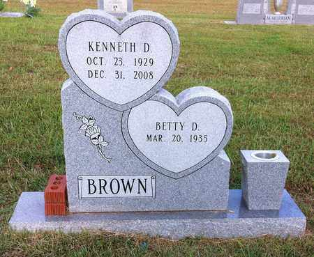 BROWN, KENNETH D - Bowie County, Texas | KENNETH D BROWN - Texas Gravestone Photos