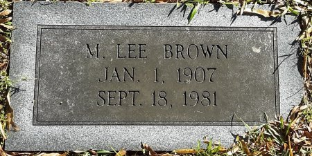 BROWN, M LEE  - Bowie County, Texas | M LEE  BROWN - Texas Gravestone Photos