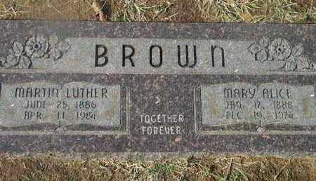 BROWN, MARY ALICE - Bowie County, Texas | MARY ALICE BROWN - Texas Gravestone Photos