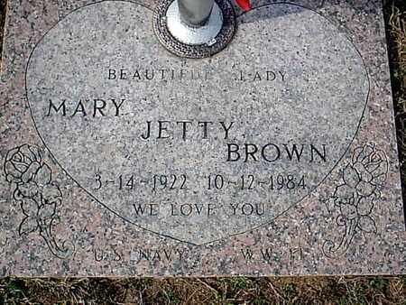 BROWN, MARY JETTY - Bowie County, Texas | MARY JETTY BROWN - Texas Gravestone Photos