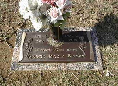 BROWN, MARGIE MARIE - Bowie County, Texas | MARGIE MARIE BROWN - Texas Gravestone Photos