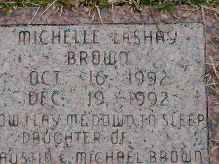 BROWN, MICHELLE LASHAY - Bowie County, Texas | MICHELLE LASHAY BROWN - Texas Gravestone Photos