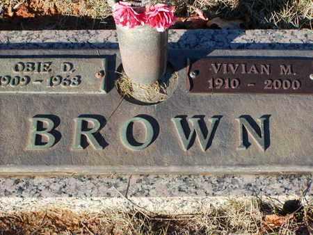 BROWN, VIVIAN M - Bowie County, Texas | VIVIAN M BROWN - Texas Gravestone Photos