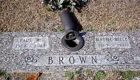 BROWN, PAUL M - Bowie County, Texas | PAUL M BROWN - Texas Gravestone Photos