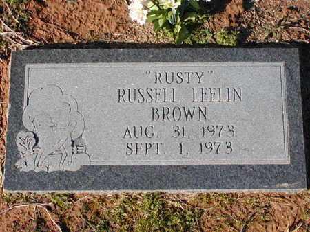 "BROWN, RUSSELL LEELIN ""RUSTY"" - Bowie County, Texas   RUSSELL LEELIN ""RUSTY"" BROWN - Texas Gravestone Photos"