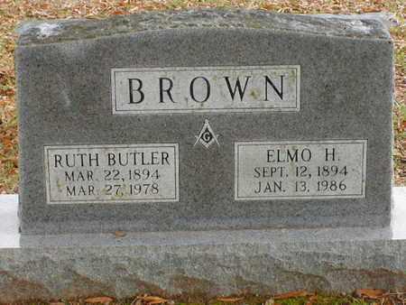 BROWN, ELMO H - Bowie County, Texas | ELMO H BROWN - Texas Gravestone Photos